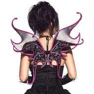 Ailes scintillantes leg avenue noir mauve ailes de fee