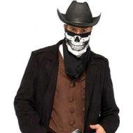 Bandana squelette leg avenue blanc noir divers