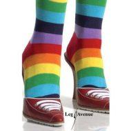 Bas chaussettes arc en ciel leg avenue multicolore mi bas chaussettes sexy