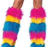 Bas collants jambiere yeti neon multicolore leg avenue taille unique