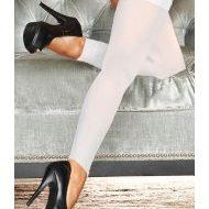 Bas legging innocence hustler lingerie blanc bas legging jambieres