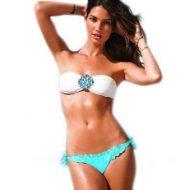 Bikini bandeau avec strass