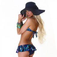 Bikini bandeau culotte effet jupette
