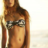 Bikini bandeau fleuri