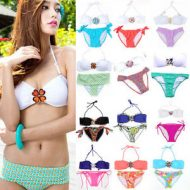 Bikini bandeau push up et strass