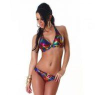 Bikini brillant et sexy multicolore