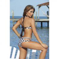Bikini rayures et pois culotte echancree