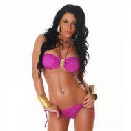 Bikini sexy avec bijoux centre poitrine