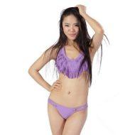 Bikini sexy triangle vert violet