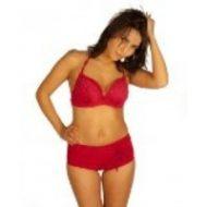 Bikini strass avec shorty effet ceinture
