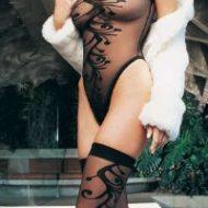 Body tatoo bas leg avenue noir bodys