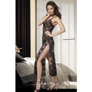 Bodystocking resille avec ouvertures