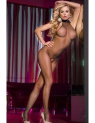 bodystocking resille ouvert
