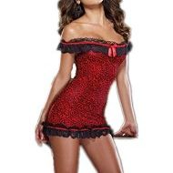 Bodystocking string resille a bande leopard