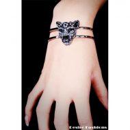 Bracelet jaguar strass desire fashions argent bijoux