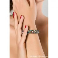 Bracelet vague strass multicolore desire fashions taille unique accessoires multicolore