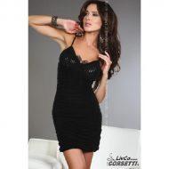Brigitte robe plissee livco corsetti livco large robes courtes noir