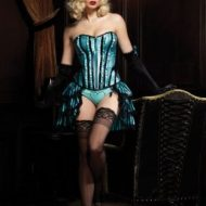 Burlesque corset betty gt leg avenue noir bleu burlesque