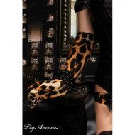 Burlesque gants modeuse leg avenue leopard burlesque