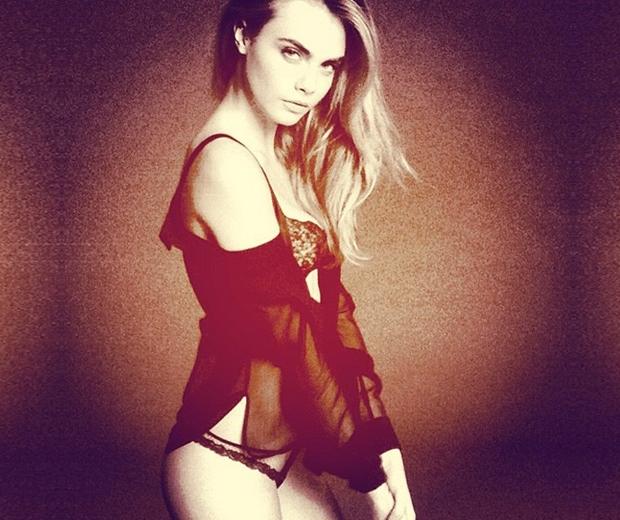 Cara Delevingne lingerie