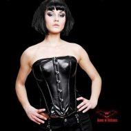 Caroline corset vinyle obsessive noir bustiers et corsets
