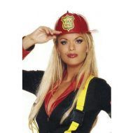 Casque de pompier leg avenue rouge jaune chapeaux