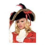 Chapeau pirate gold leg avenue noir chapeaux