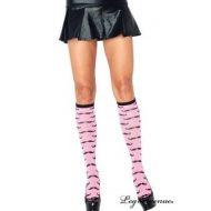 Chaussettes moustaches leg avenue e chaussettes fantaisie rose