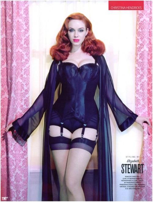 Christina Hendricks lingerie