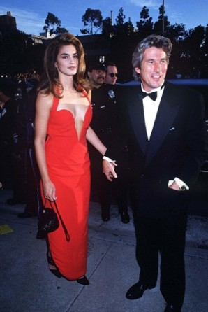 cindy crawford red dress