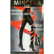 Collant a remous leg avenue noir collants