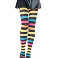 Collant acrylique rainbow leg avenue taille unique f collants multicolore