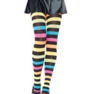Collant acrylique rainbow leg avenue taille unique f collants multicolore