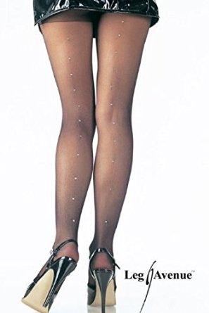 collant illusion couture en strass leg avenue rouge collants