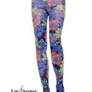 Collant kaleidoscope floral leg avenue noir collants