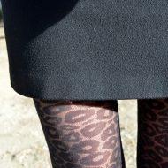 Collant leopard electric lingerie noir collants