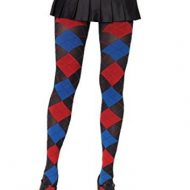 Collant losanges effet tisse leg avenue bleu rouge noir collants