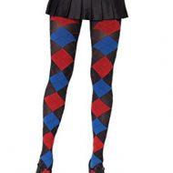 Collant losanges effet tisse leg avenue bleu rouge noir collants