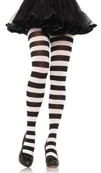 collant rayures larges leg avenue noir blanc collants