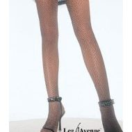 Collant resille miroitant leg avenue rose pale collants