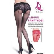 Collant shorty resille noir