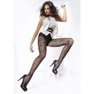 Collants a fleurs isabel 20 deniers