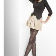 Collants epais style crochet feuilles 120 deniers
