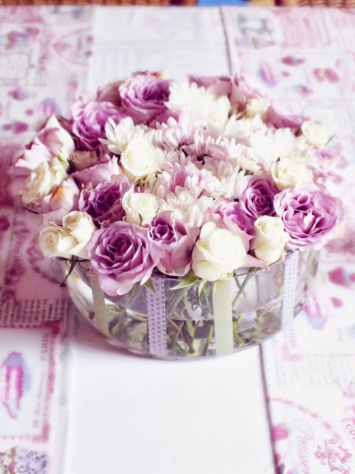 collants quadrillage floral