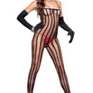 Combinaison ouverte avec elastiques music legs music legs taille unique combinaisons noir