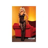 Combinaison resille sexy hustler lingerie noir combinaisons