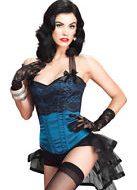 Corset etoile filante leg avenue large bustiers et corsets bleu