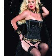 Corset lacage satine leg avenue fuschia bustiers et corsets