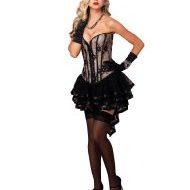 Corset madison leg avenue large burlesque noir chair