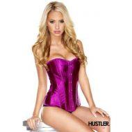 Corset satine hustler lingerie rose electrique bustiers et corsets